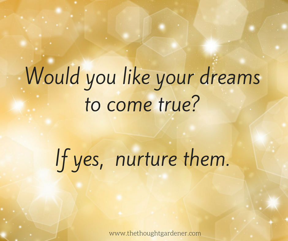 nurture your dreams